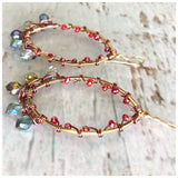Mini teardrop beaded ovals - ROWAN + RAE designs