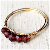Mini Bar gemstone rings - ROWAN + RAE designs