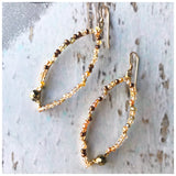 Beaded Metal leaves - ROWAN + RAE designs