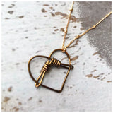Bound wire heart necklace - ROWAN + RAE designs