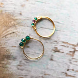 Swarovski crystal wire rings - ROWAN + RAE designs