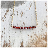 Gemstone/crystal bar necklace - ROWAN + RAE designs