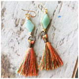 Amazonite mini tassels - ROWAN + RAE designs