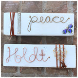 Hand-wired wooden block - ROWAN + RAE designs