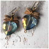 Petite iridescent glass hearts - ROWAN + RAE designs