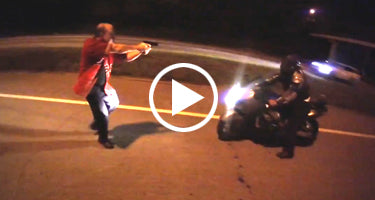 OFF DUTY COP ATTACKS BIKERS WITH GUN!