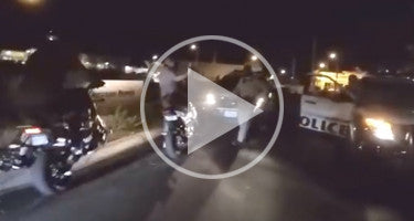 GROM RIDER HITS BUDDY FLEEING FROM COPS