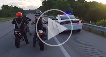 SUPERMOTO MEET STALLED BY STATE TROOPER!