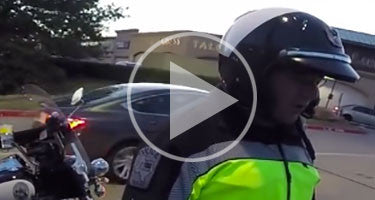BORED COP STOPS RIDERS FOR NO REASON!