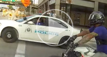 WHEELIES THROUGH BUSY CITY IGNITES POLICE CHASE!