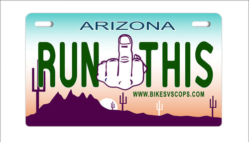 LICENSE PLATE - ARIZONA