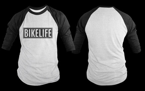T-SHIRT - BIKELIFE (RED & WHITE PRINT)