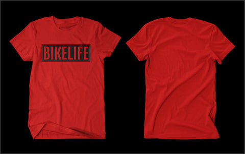 T-SHIRT - BIKELIFE (GOLD PRINT)
