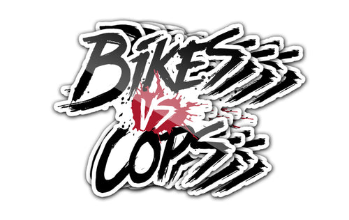 STICKER - BIKES VS COPS (5-PACK)