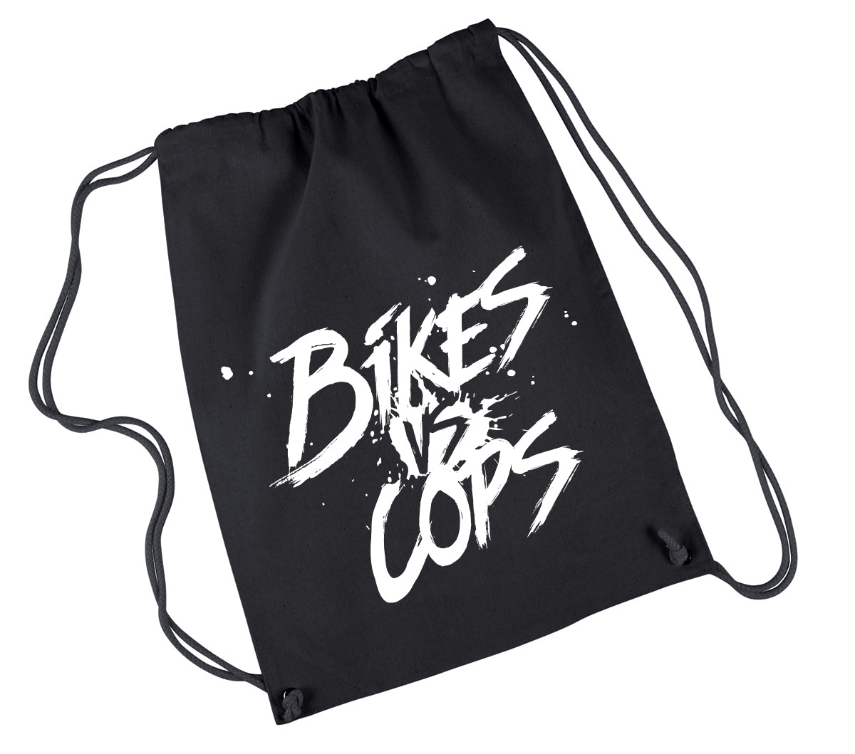 DRAWSTRING BACKPACK - BIKES VS COPS SPLATTER