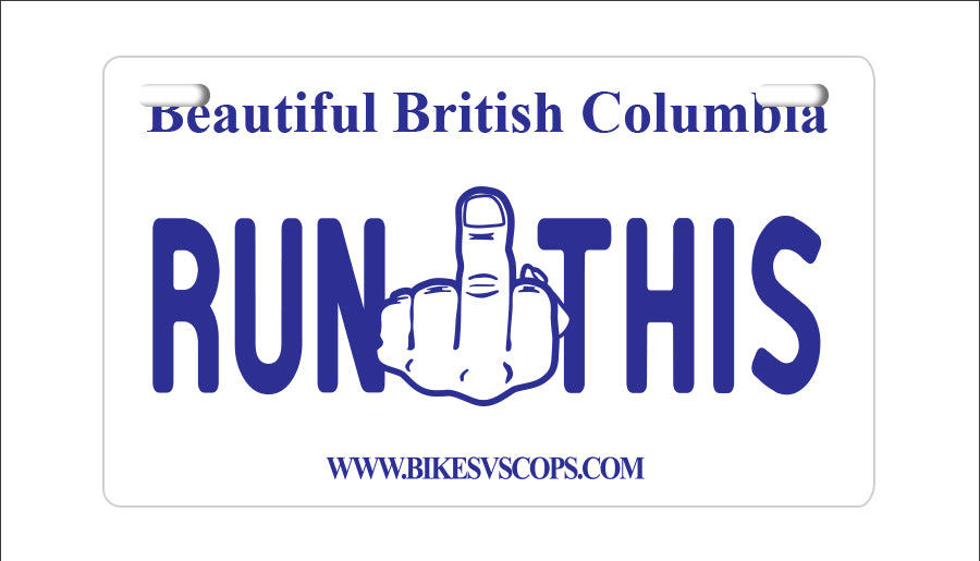 LICENSE PLATE - BRITISH COLUMBIA