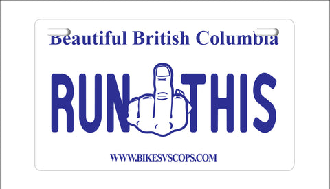 RUN THIS PLATE - WASHINGTON