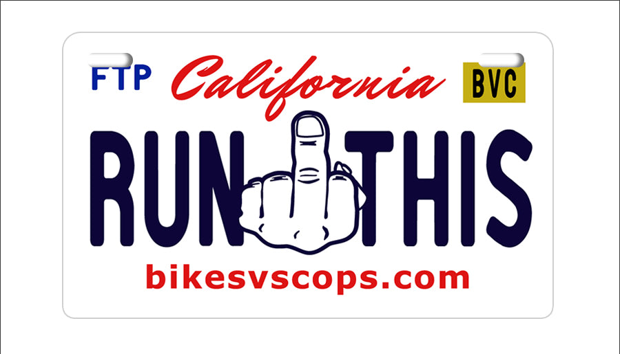 RUN THIS PLATE - CALIFORNIA