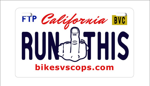 LICENSE PLATE - CALIFORNIA