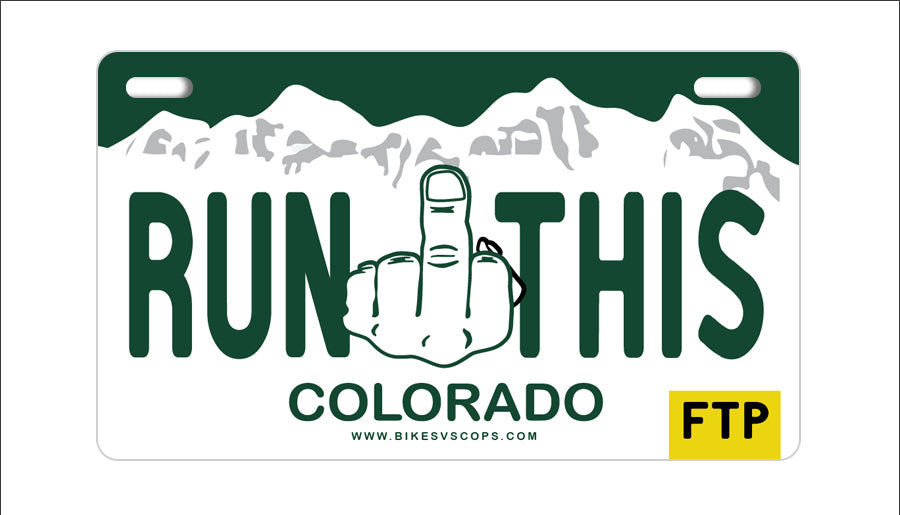 RUN THIS PLATE - COLORADO
