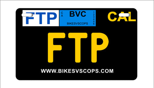 FTP PLATE - CALIFORNIA BLACK