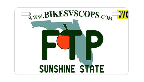 FTP PLATE - TEXAS BLACK