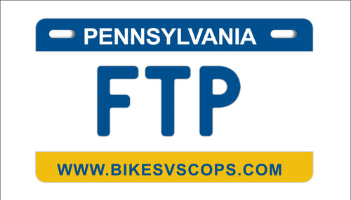 FTP PLATE - PENNSYLVANIA