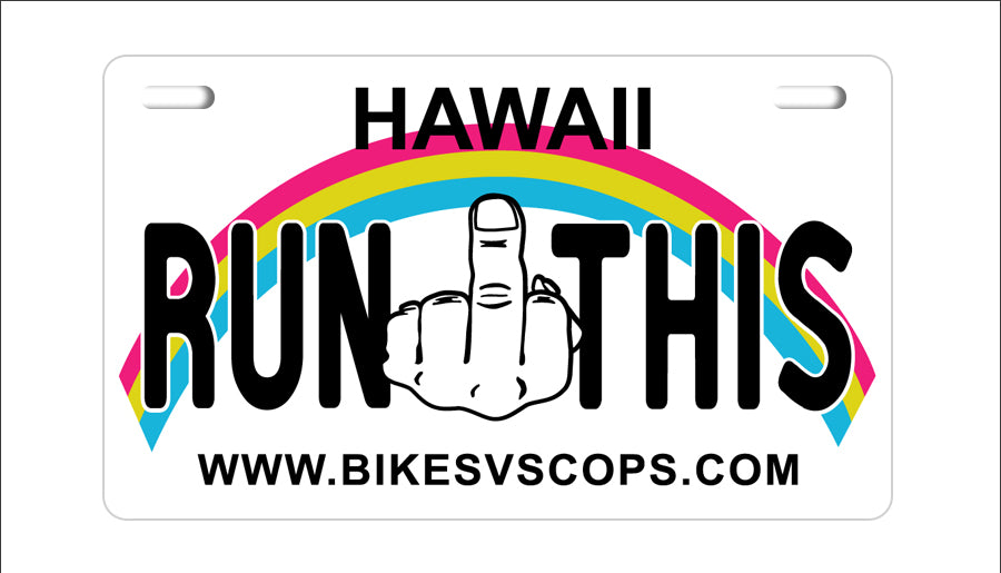 LICENSE PLATE - HAWAII
