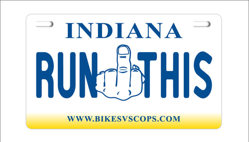 RUN THIS PLATE - INDIANA