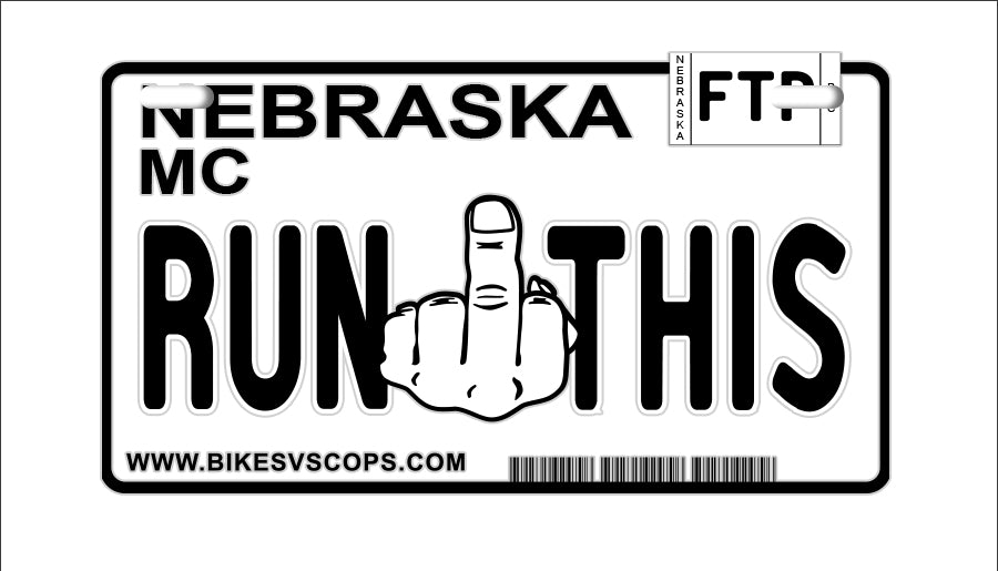 RUN THIS PLATE - NEBRASKA