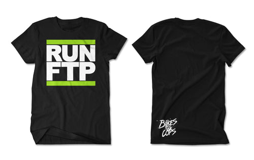 T-SHIRT - RUN FTP (GREEN PRINT)