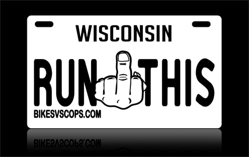 LICENSE PLATE - WISCONSIN