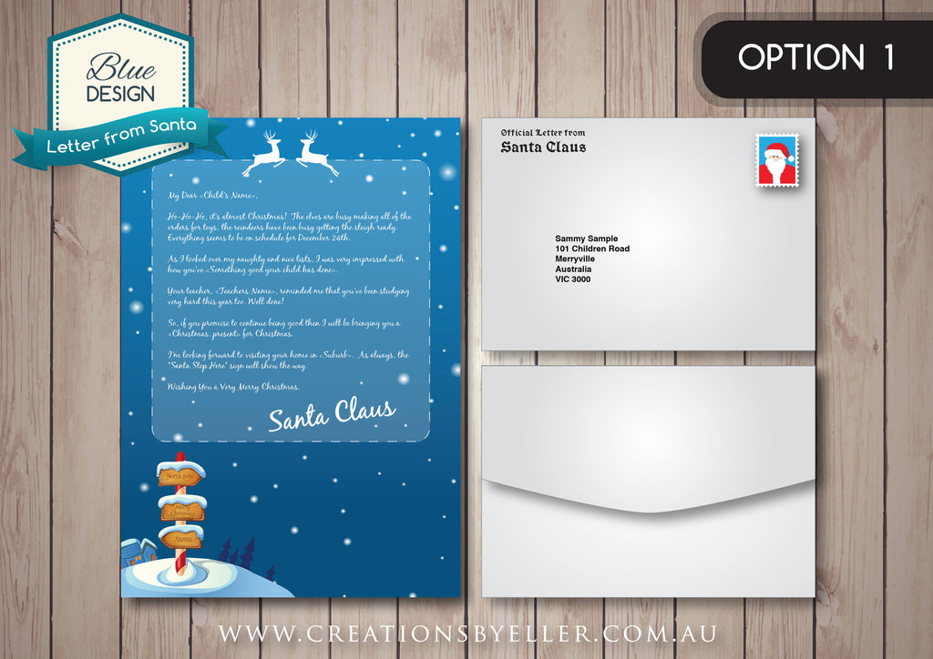 Personalised letter from santa blue design design ink personalised letter from santa blue design spiritdancerdesigns Choice Image