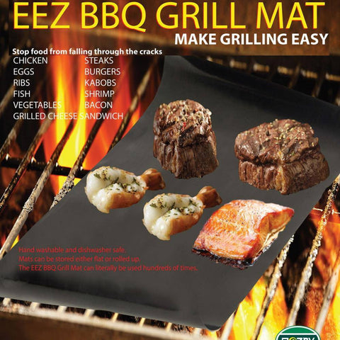 2 pcs EZ BBQ grill mat - making BBQ Easy