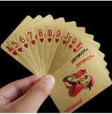 24K Gold Foil Waterproof Poker Cards Set - Magic Tricks