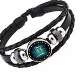 HOT 2017 12 Constellation Horoscope Astrology Leather Bracelet