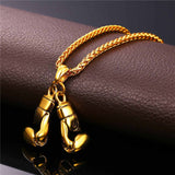 MMA Boxing Glove Pendant + Necklace Set