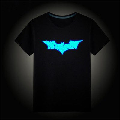 Luminous Glow In the Dark Children Size T-shirts - Batman, Spiderman