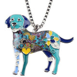 Enamel Labrador Retriever Dog Necklace Pendant Set