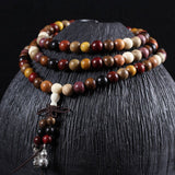 108 Sandalwood Tibetan Buddhist Mala Buddha Beads Bracelet for mediation