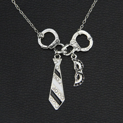50 Fifty Shades of Grey Unique Pendant + Necklace set