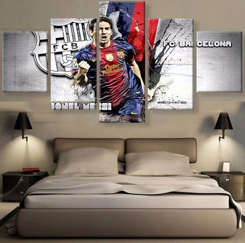 FC Barcelona Lionel Messi 5 pieces Canvas Wall Art