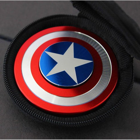 Captain America Shield Fidget Spinner EDC for ADHD