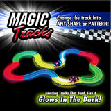 Magic Tracks Glow in the Dark fully flexible for children learning curve with car included