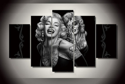 Marilyn Monroe 5 Pieces Canvas Wall Art