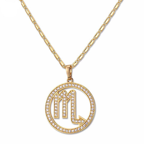 Scorpio Zodiac Necklace & Pendant Set