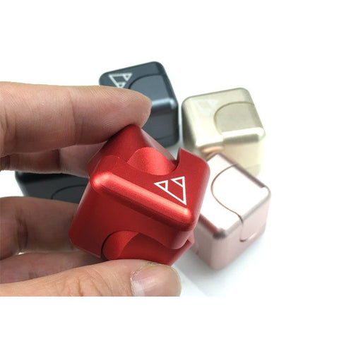 Aluminum Fidget Square Cube Spinner EDC for ADHD