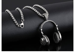Hot & Trendy Hip Hop Headphone Pendant Stainless Steel