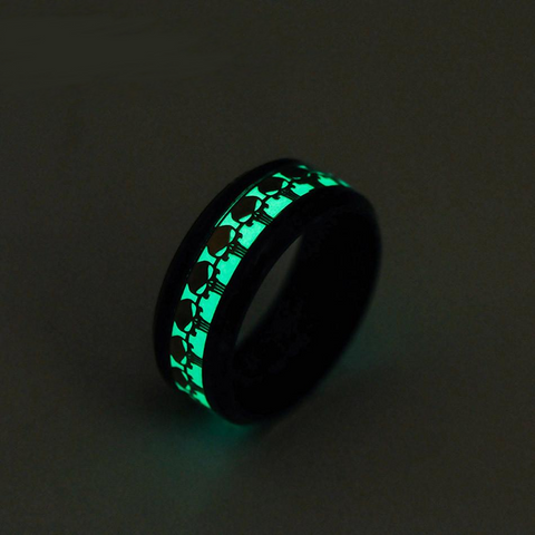 Glow in the Dark Luminous Punisher 8mm Ring