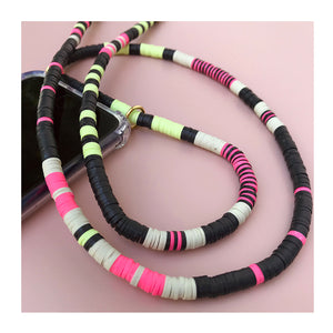 Pink Black Mint Green Phone Necklace